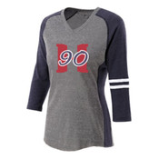 Hard 90 3 Qtr Sleeve Ladies Shirt