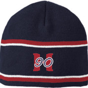 Hard 90 Baseball Striped Beanie